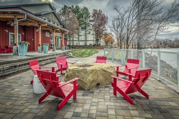firepit at Whitewater Park Apartments
