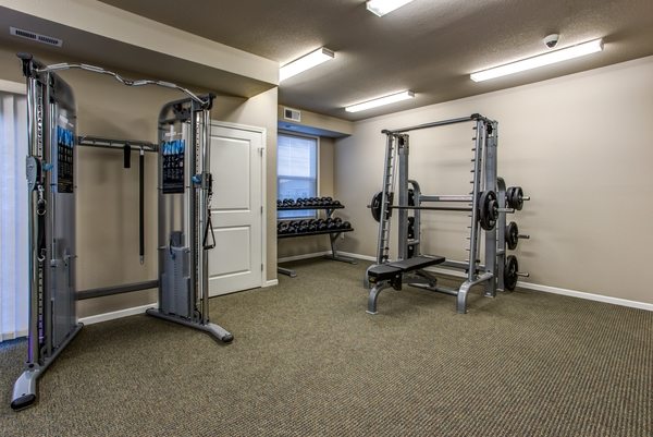 fitness center at Fair Hills Apartments