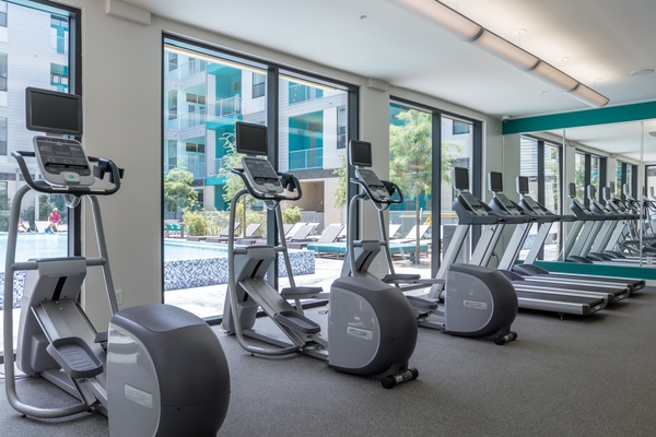 fitness center at Agave Apartments