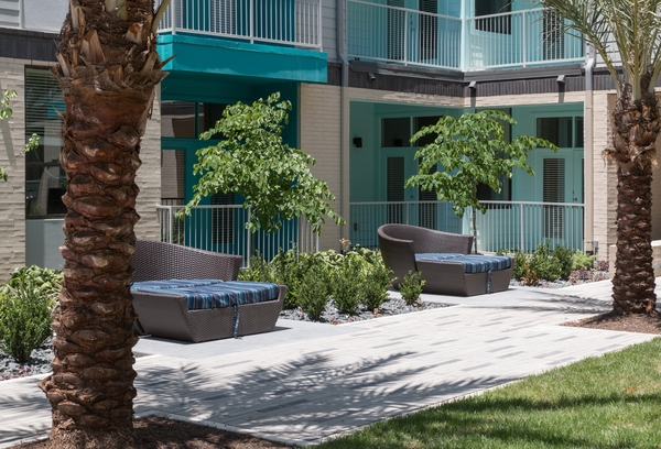 patio at Agave Apartments