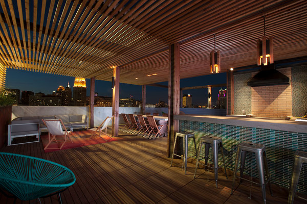 rooftop deck at Agave Apartments