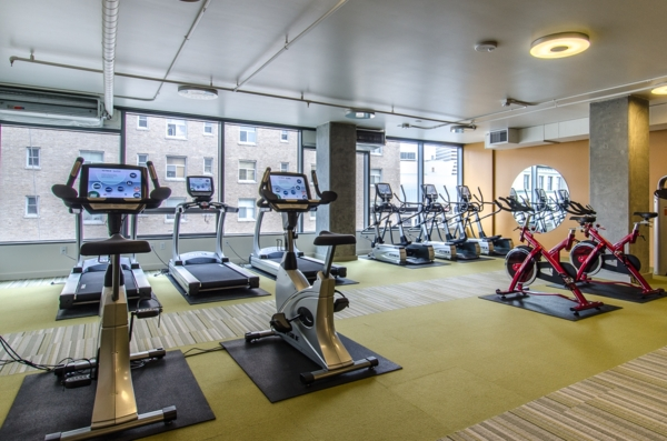 fitness center at Viktoria Apartments