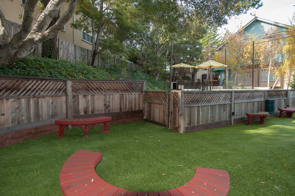 dog park at Pacific Vista Apartments