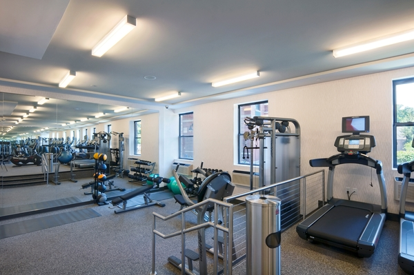 fitness center at Chancery Square Apartments