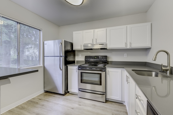 kitchen at Onyx Apartments