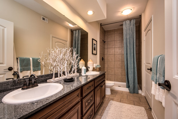 bathroom at Highlands Lodge Apartments