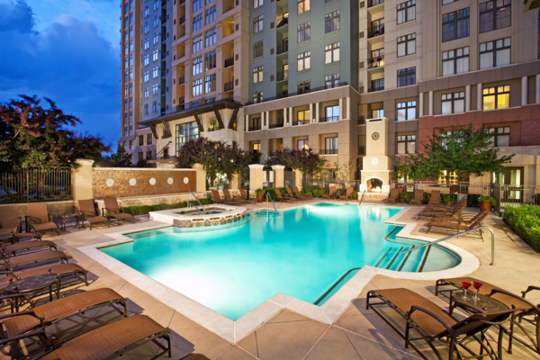 pool at 4550 Cherry Creek Apartments