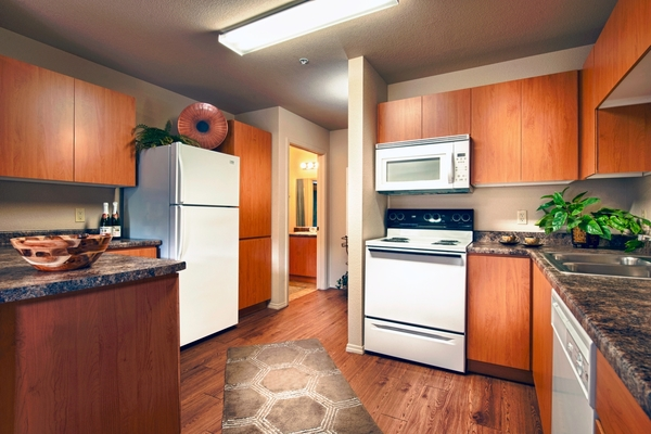 kitchen at Esteban Park Apartments