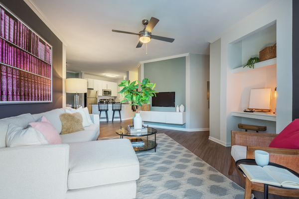 living room at The Vinoy at Innovation Park Apartments