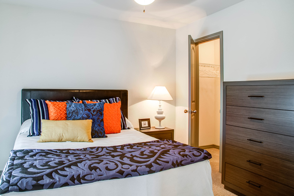 bedroom at Reserve at Garden Oaks Apartments