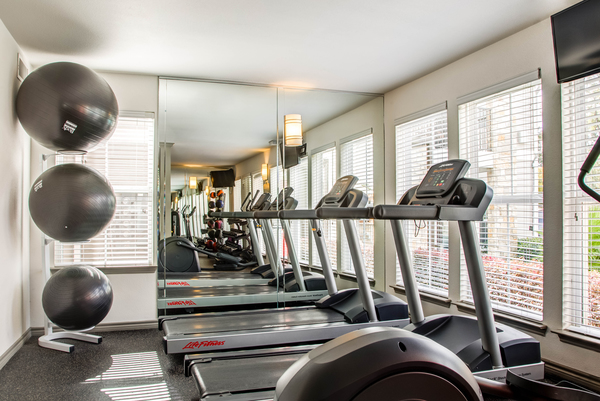 fitness center at Reserve at Garden Oaks Apartments