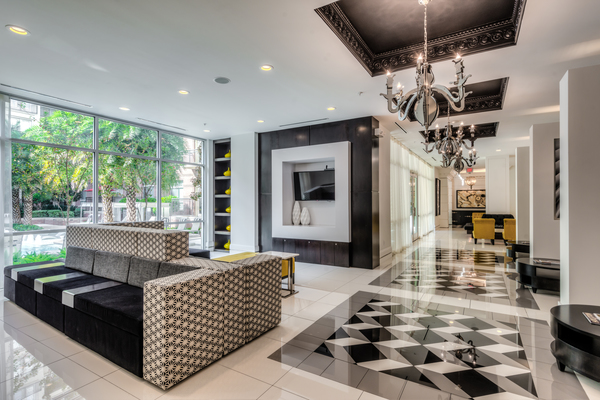 clubhouse at WaterWall Place Luxury Apartments
