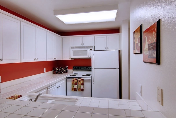 kitchen at Holly Street Village Apartments
