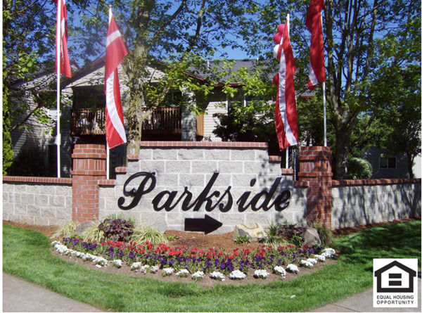 exterior at Parkside Apartments