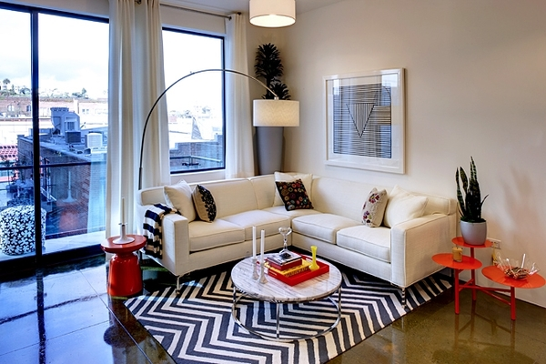 living room at Potrero Launch Apartments