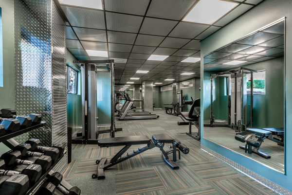 fitness room at The Summit Apartments