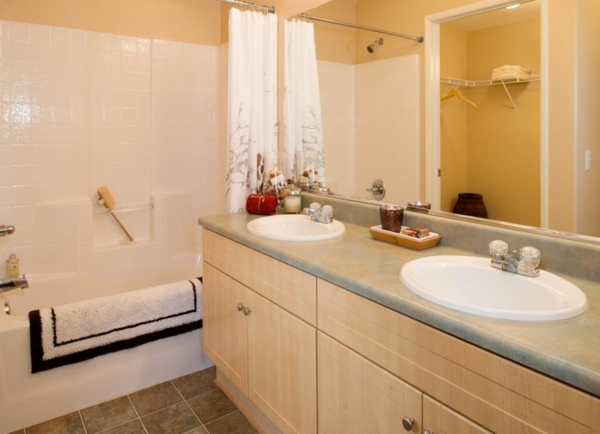 bathroom at The Heights at Chino Hills Apartments