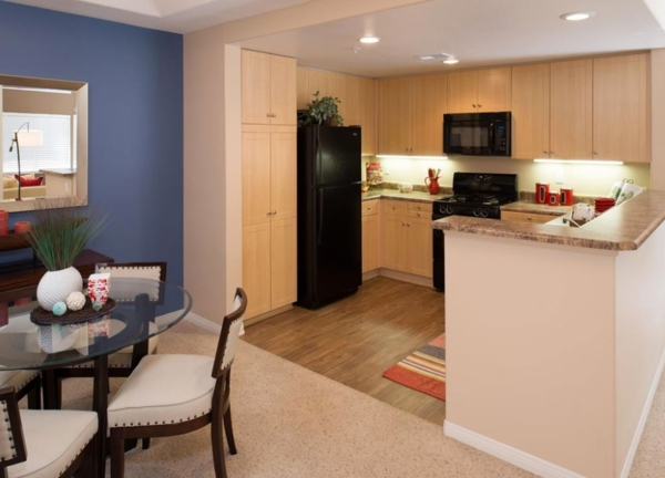kitchen at The Heights at Chino Hills Apartments