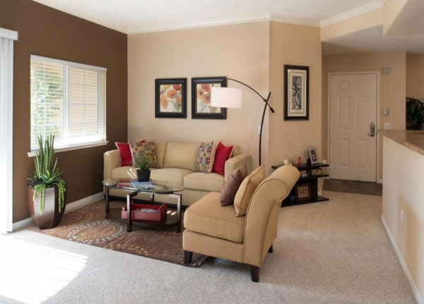 living room at The Heights at Chino Hills Apartments