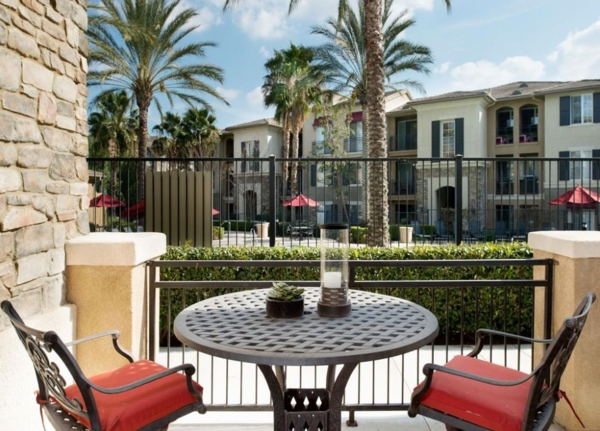 patio/balcony at The Heights at Chino Hills Apartments