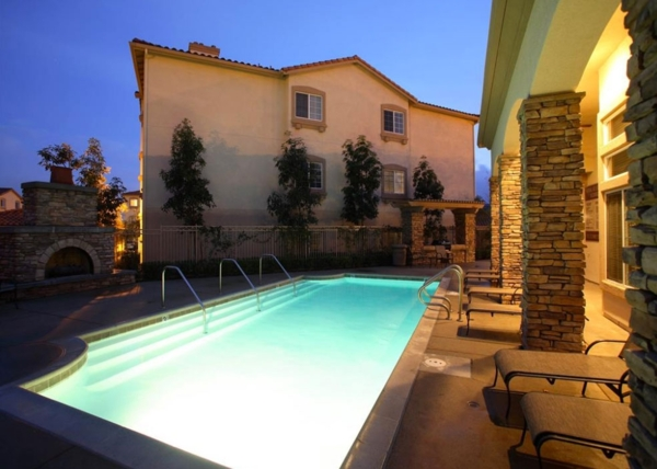 pool at The Heights at Chino Hills Apartments