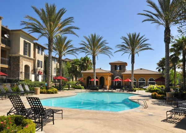 pool at at The Heights at Chino Hills Apartments