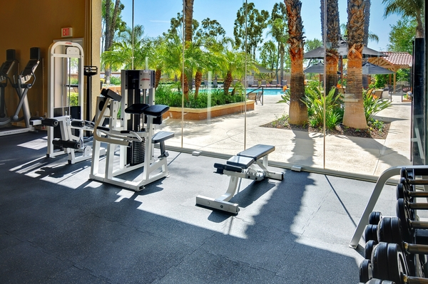 fitness center at The Hills of Corona Apartments