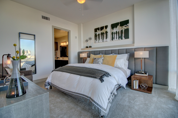 bedroom at The Southmore Apartments