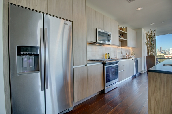 kitchen at The Southmore Apartments
