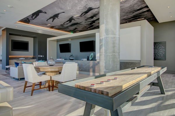 game room at The Southmore Apartments