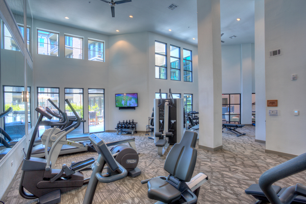 fitness center at West Koenig Flats Apartment Homes