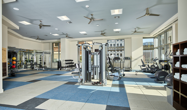 fitness center at Aris Market Square Apartments