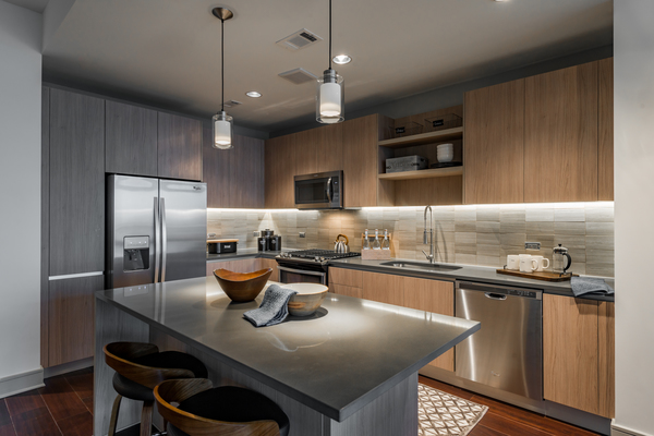 kitchen at Aris Market Square Apartments