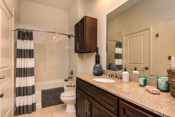 bathroom at The Village at Mission Farms Apartments