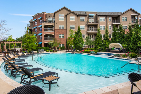 pool at The Village at Mission Farms Apartments