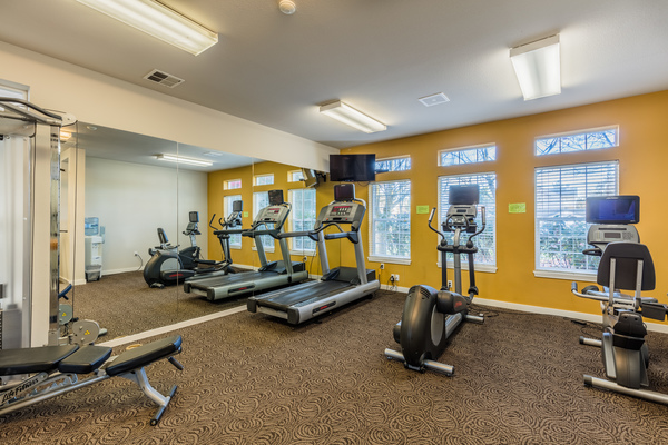 fitness room at Brittany Lane Apartments