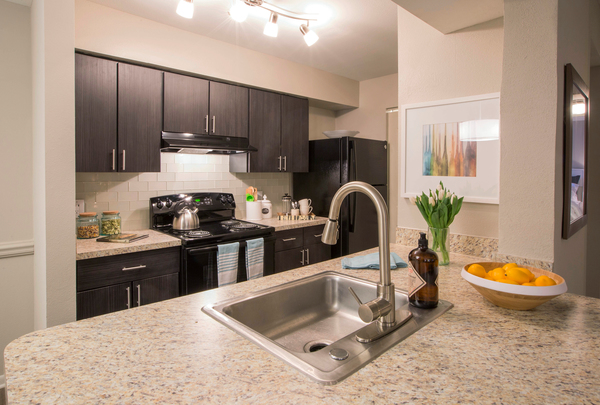 kitchen at Lakeside Mill Apartments