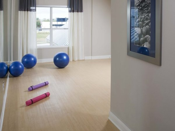 yoga room at Eclipse Apartments