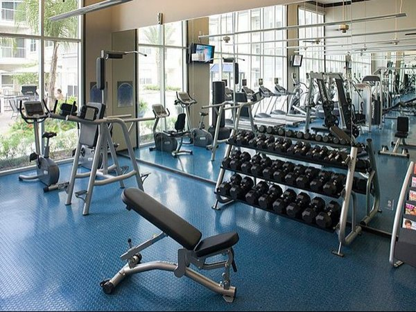 fitness center at Eclipse Apartments