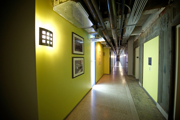hallway at Interurban Building Apartments