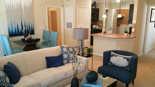 living room at Waterstone Apartment Homes