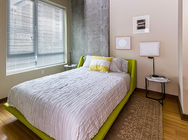 bedroom at The Granary Apartments