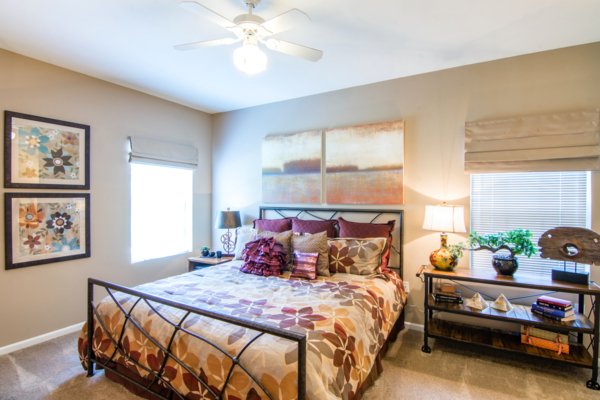 bedroom at Estancia at City Center Apartments