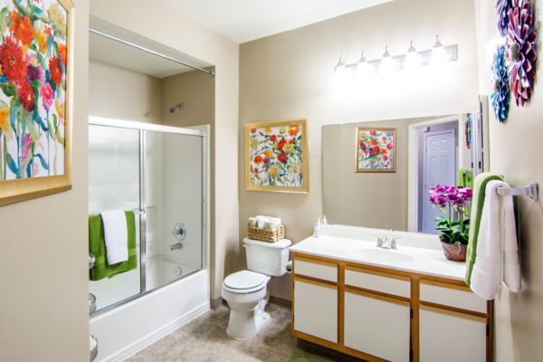 bathroom at Estancia at City Center Apartments