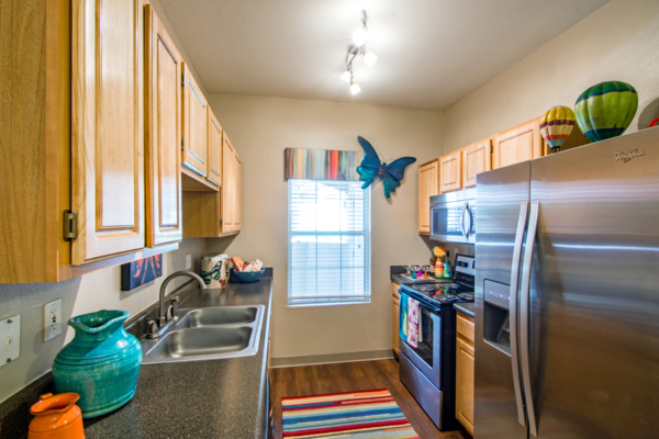 kitchen at Estancia at City Center Apartments