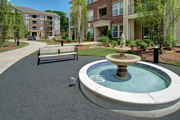 water fountain at Alexander Village Apartments