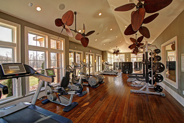 fitness center at Alexander Village Apartments