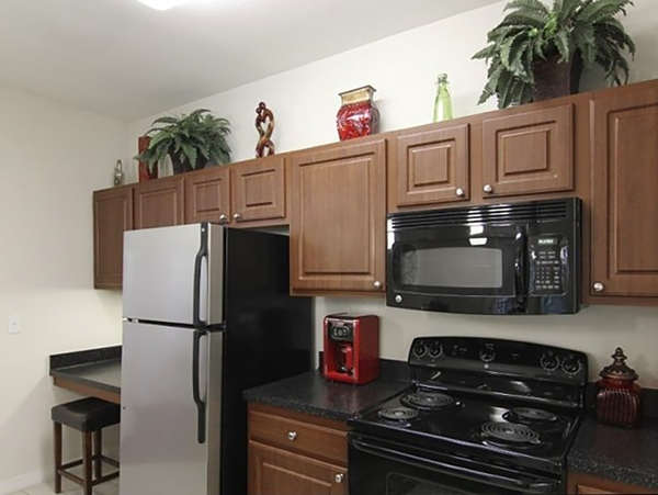 kitchen at Avenue Royale Apartments