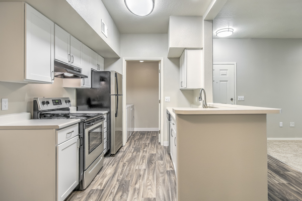 kitchen at River Pointe Apartments