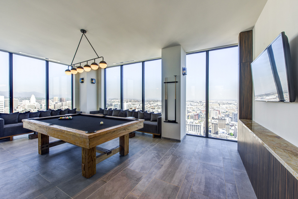game room at Atelier Apartments
